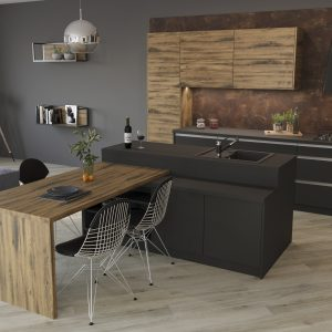 Kuchyňa Akrylát Matt čierna