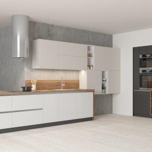Kuchyňa Evermatt bielo šedá II.