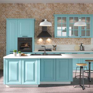 Kuchyňa Provence tyrkysová