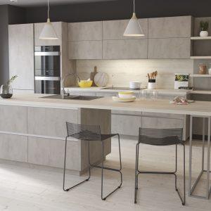 Kuchyňa Cement svetlý I.