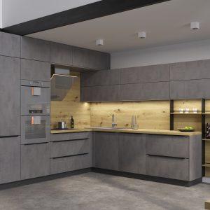 Kuchyňa Cement tmavý II.