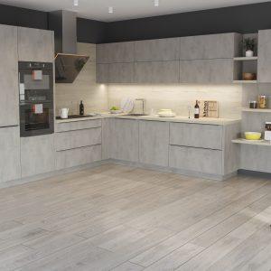 Kuchyňa Cement svetlý II.